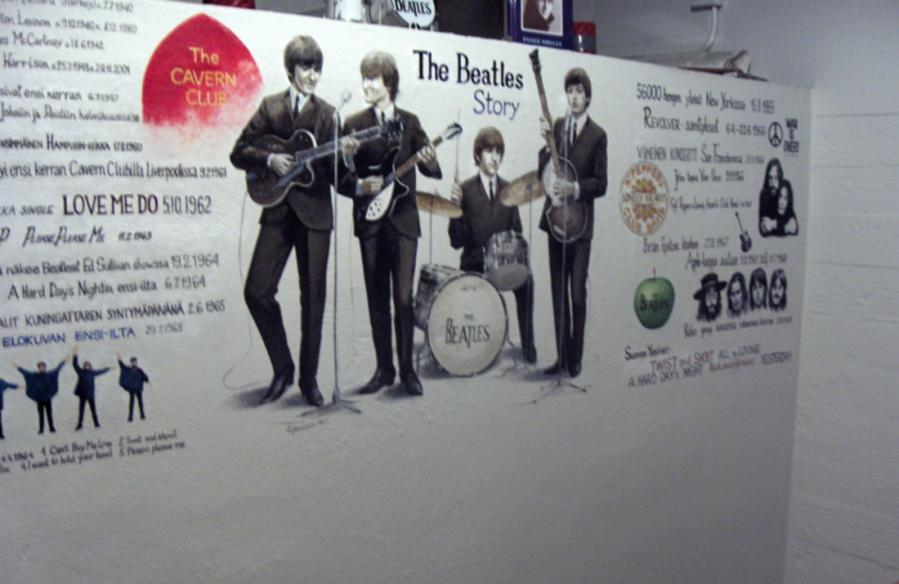 The Beatles wall